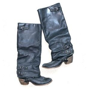 MIE Brazilian leather wide shaft motorcycle boots